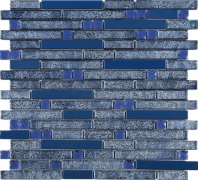 Blue Stainless Steel Blue Galaxy Stone Mosaic Tile DSS-04 JDSS4