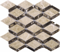 Cedar Dynasty Border Diamond Stone Mosaic Tile JEMP2