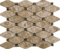 Light Emperador Diamond Stone Mosaic Tile EMP-04 JEMP4