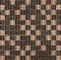 Brown Amber Shinny Square Glass Mosaic Tile JGEM4