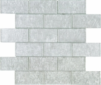 Silver Foil Brick Glass Mosaic Tile JGK3