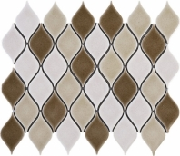 Handmade Brown Water Diamond Polished Ceramic Mosaic Tile JHMA6