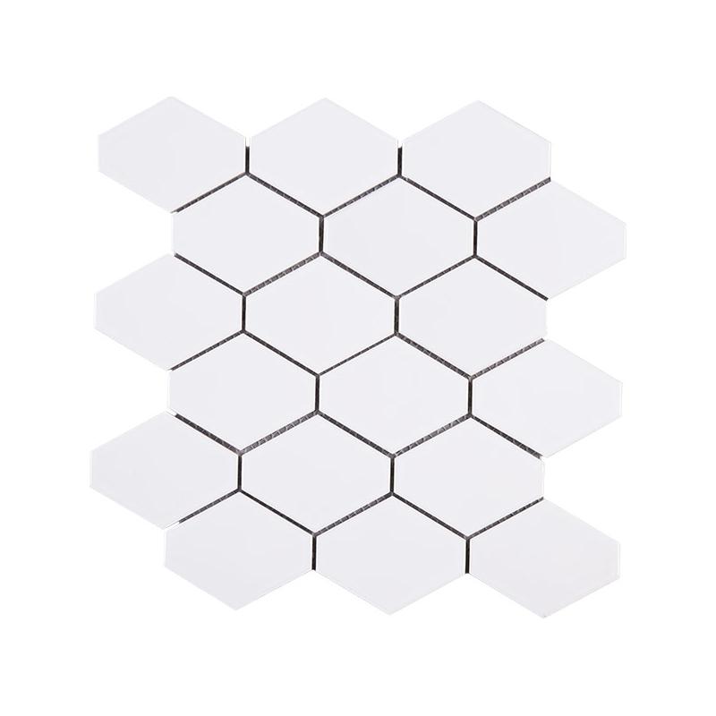 Handmade White Diamond Shape Polished