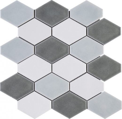 Handmade Blue Grey Diamond Shape
