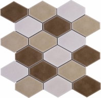 Handmade Brown Diamond Shape Polished Ceramic Mosaic Tile JHMA9