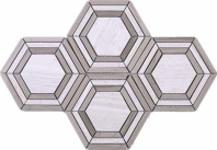 Hexagon Brown Stone Mosaic Tile JINT3
