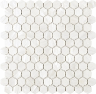 Hexagon Mother of Pearl Tile Mosaic Tile JMPS4