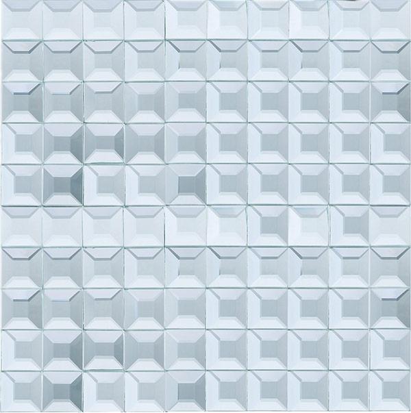 Beveled Glass X Mosaic Silver Mirror Square Tile JMRM Home Decor AZ - 1x1 mirror tiles
