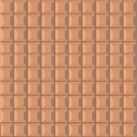Beveled Glass 1x1 Mosaic Copper Mirror Square Tile JMRM3