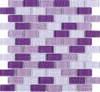 Purple Brick Glass Mosaic Tile JRCE3