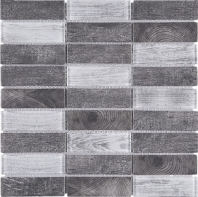 Grey Stacked Glass Vintage Mosaic Tile JREGL6
