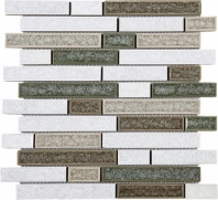 Roman Art Random Interlocking Glass and Ceramic Gem Mosaic Tile JRPC2