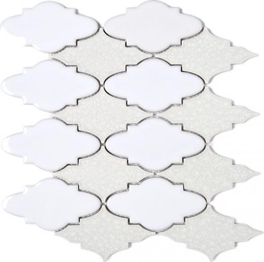 Roman Art Arabesque White Grey Mosaic Tile Jrpc9 Home