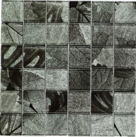 Grey Square Polished Glass Mosaic Tile JSL1