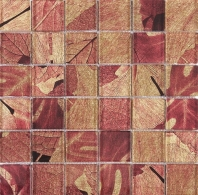 Red Square Polished Glass Mosaic Tile JSL3