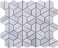 Carrara White Marble Mosaic Tile JTHUN1