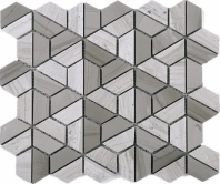 Wooden Grey Marble Mosaic Tile JTHUN2