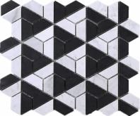 Black Marquina Marble Mosaic Tile JTHUN3