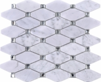 Diamond White Carrara Crystal Mosaic Tile JWHCA7