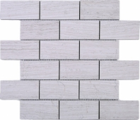 Wooden Grey Brick Mosaic Tile JWOBE1