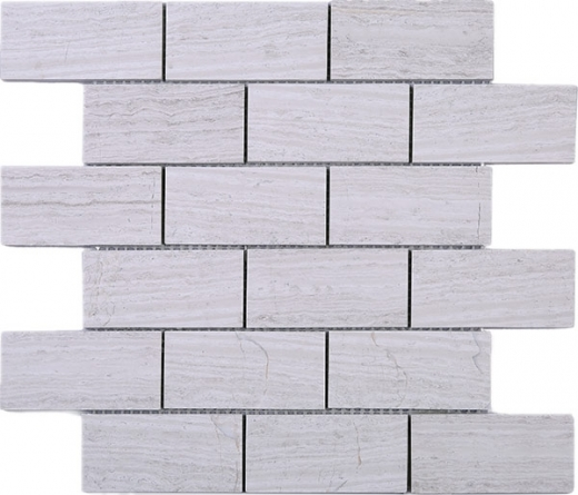 Wooden Grey Brick Mosaic Tile JWOBE1