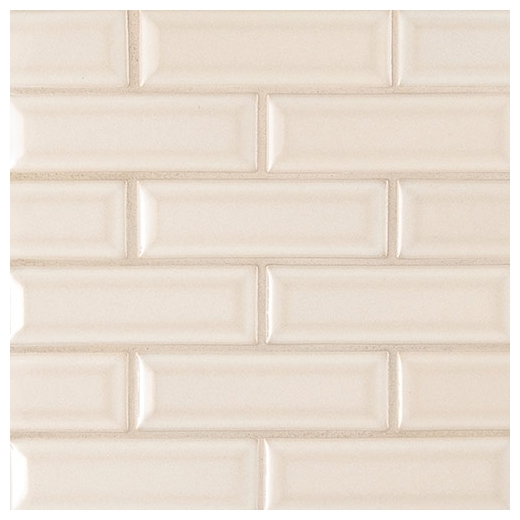 MSI Antique White 2x6 Beveled Subway Tile