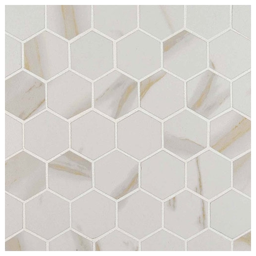MSI Calacatta Matte 2x2 Hexagon Tile