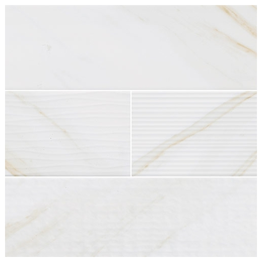 MSI Classique White Calacatta 4x16 Mix Subway Tile