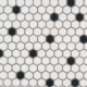 MSI Black And White 1 Hexagon Tile