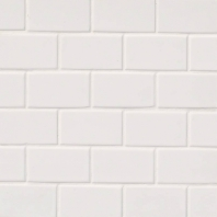 MSI White 2x4 Staggered Mosaic Tile