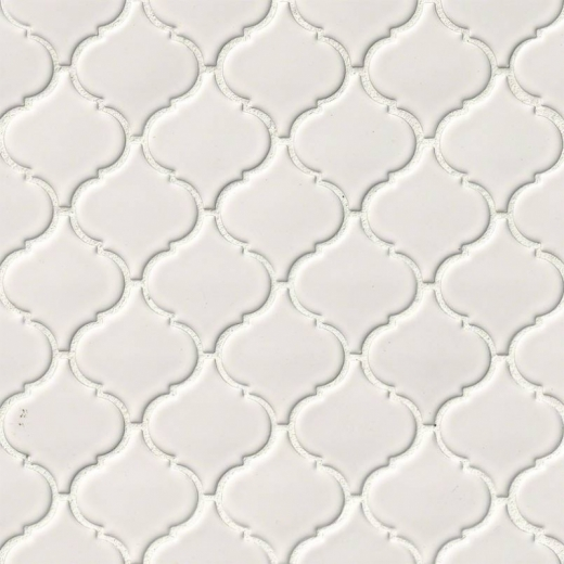MSI White Arabesque Mosaic Tile