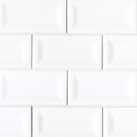MSI White 3x6 Inverted Beveled Subway Tile
