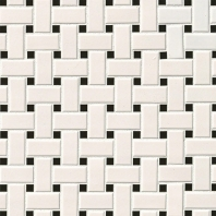 MSI White And Blackmatte Basketweave Mosaic Tile