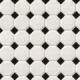 MSI White And Black Matte Octagon Mosaic Tile