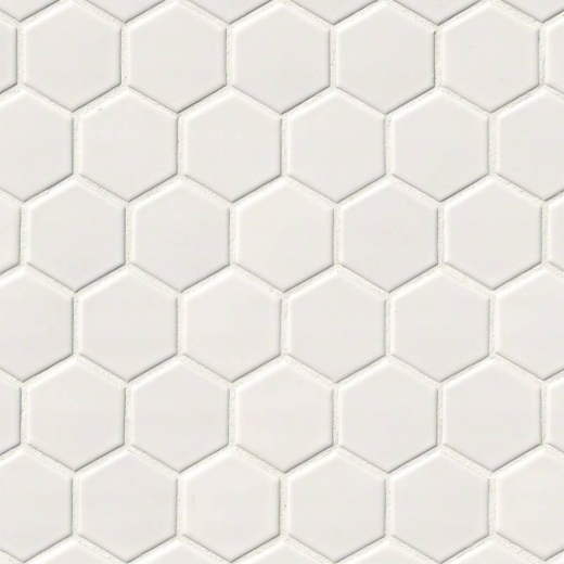 MSI White 2 Hexagon Mosaic Tile