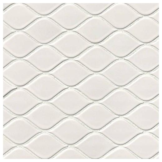 MSI White Tear Drop Mosaic Tile