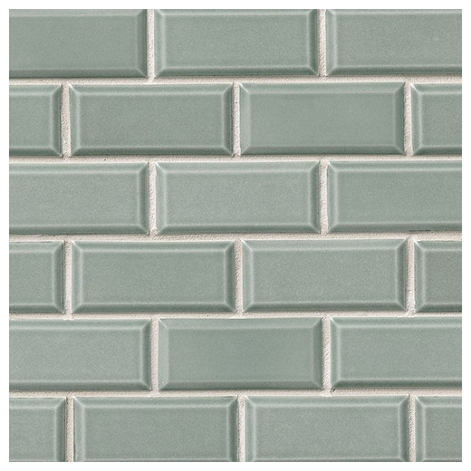MSI Donna Teal Beveled Subway Tile