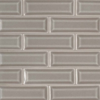 MSI Dove Gray 2x6 Beveled Subway Tile