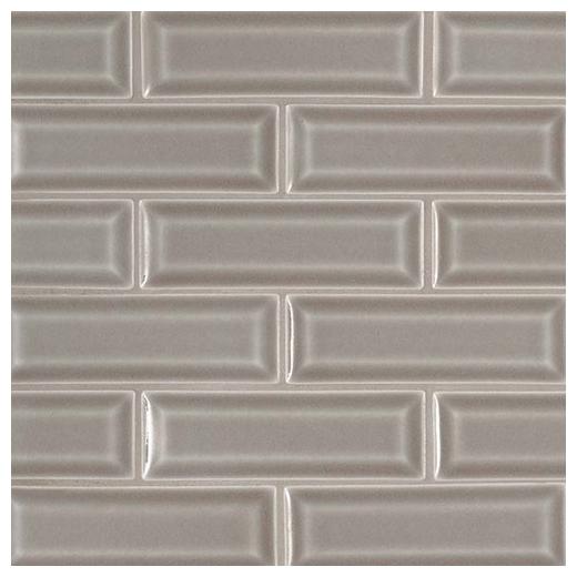 Msi Dove Gray 2x6 Beveled Subway Tile