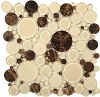 Tile Bubble Full Sheet Warm Brownie BFS-301