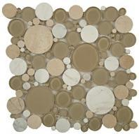 Tile Bubble Full Sheet Olivine BFS-701