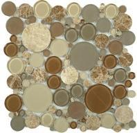 Tile Bubble Full Sheet Toffee BFS-801