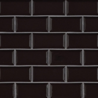 MSI Midnight Black Beveled Subway Tile