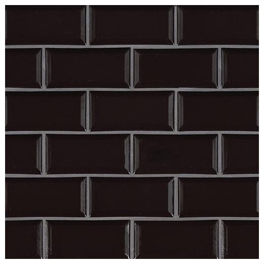 Msi Midnight Black Beveled Subway Tile Home Decor Az