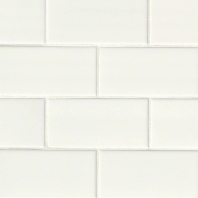 MSI White 3x6 Subway Tile