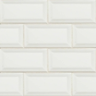 MSI White 3x6 Beveled Subway Tile