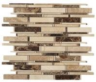 Tile Cascade Emperador Dark Crema Marfil Emperador Light Mix CS-91