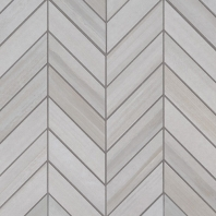 MSI Watercolor Bianco Chevron Mosaic Tile