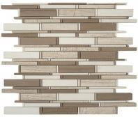 Tile Cascade Wooden White Athen Gray Thassos Mix