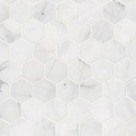 "MSI Calacatta Cressa 2"" Hexagon Tile"